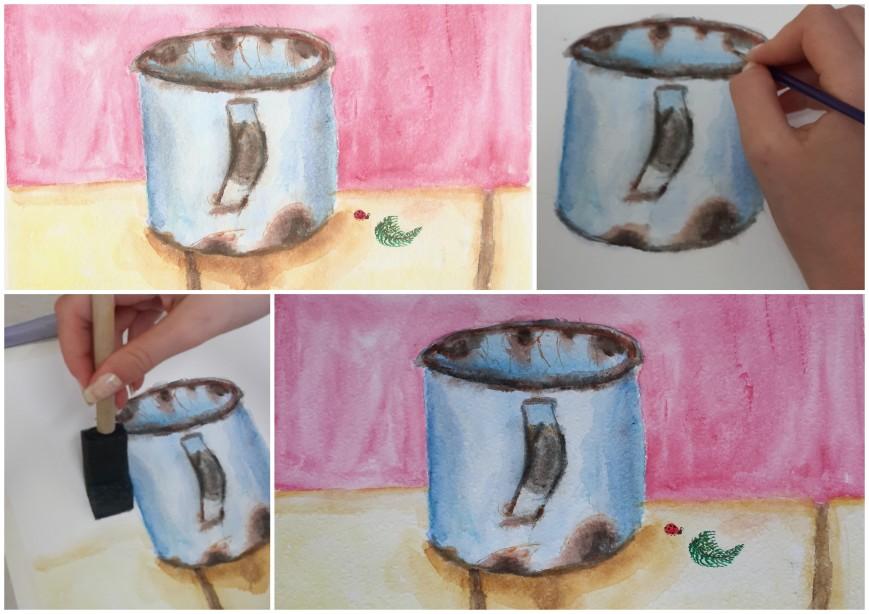 Art rusty cup