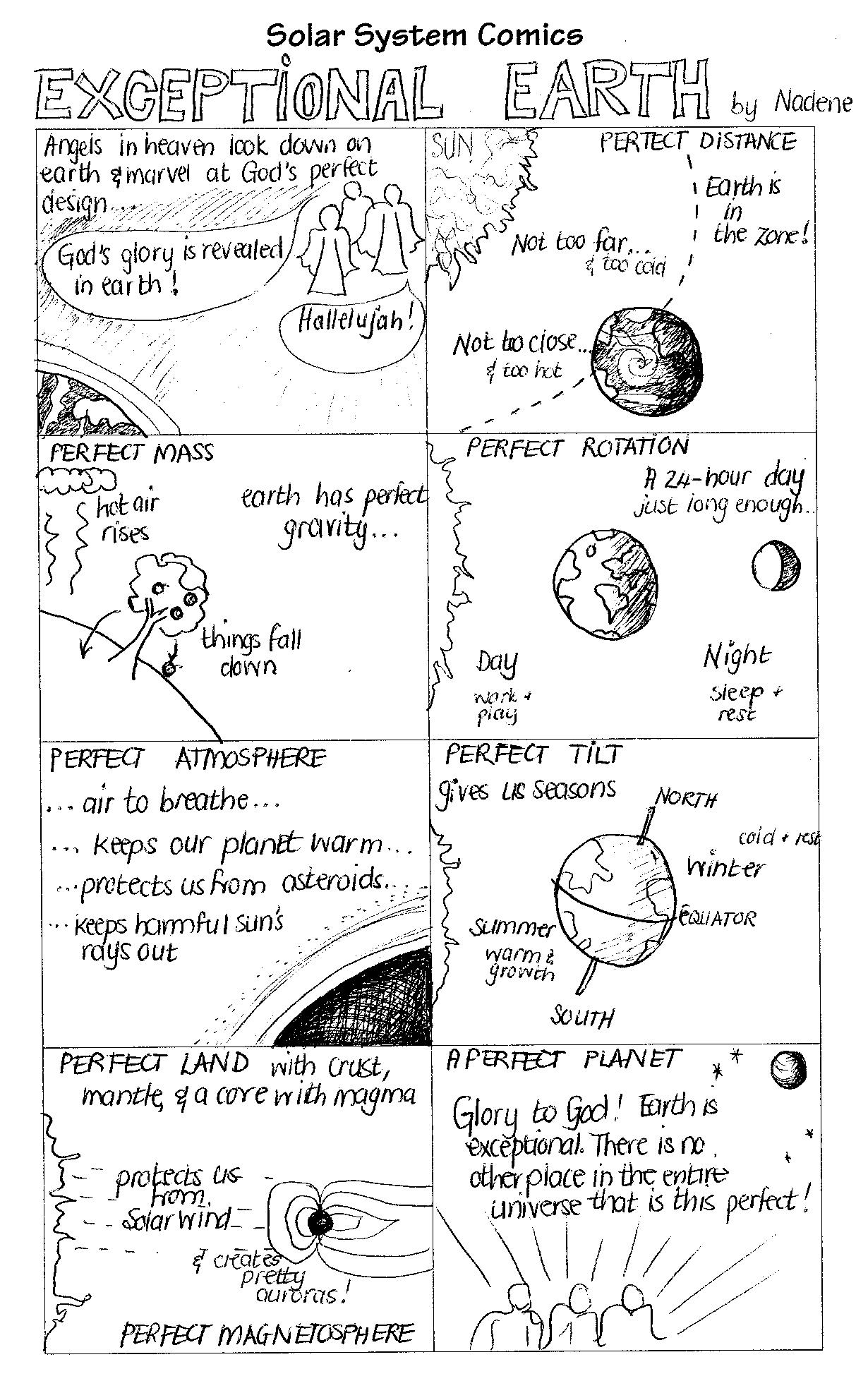 Solar System Comics Earth Amp Mars Practical Pages