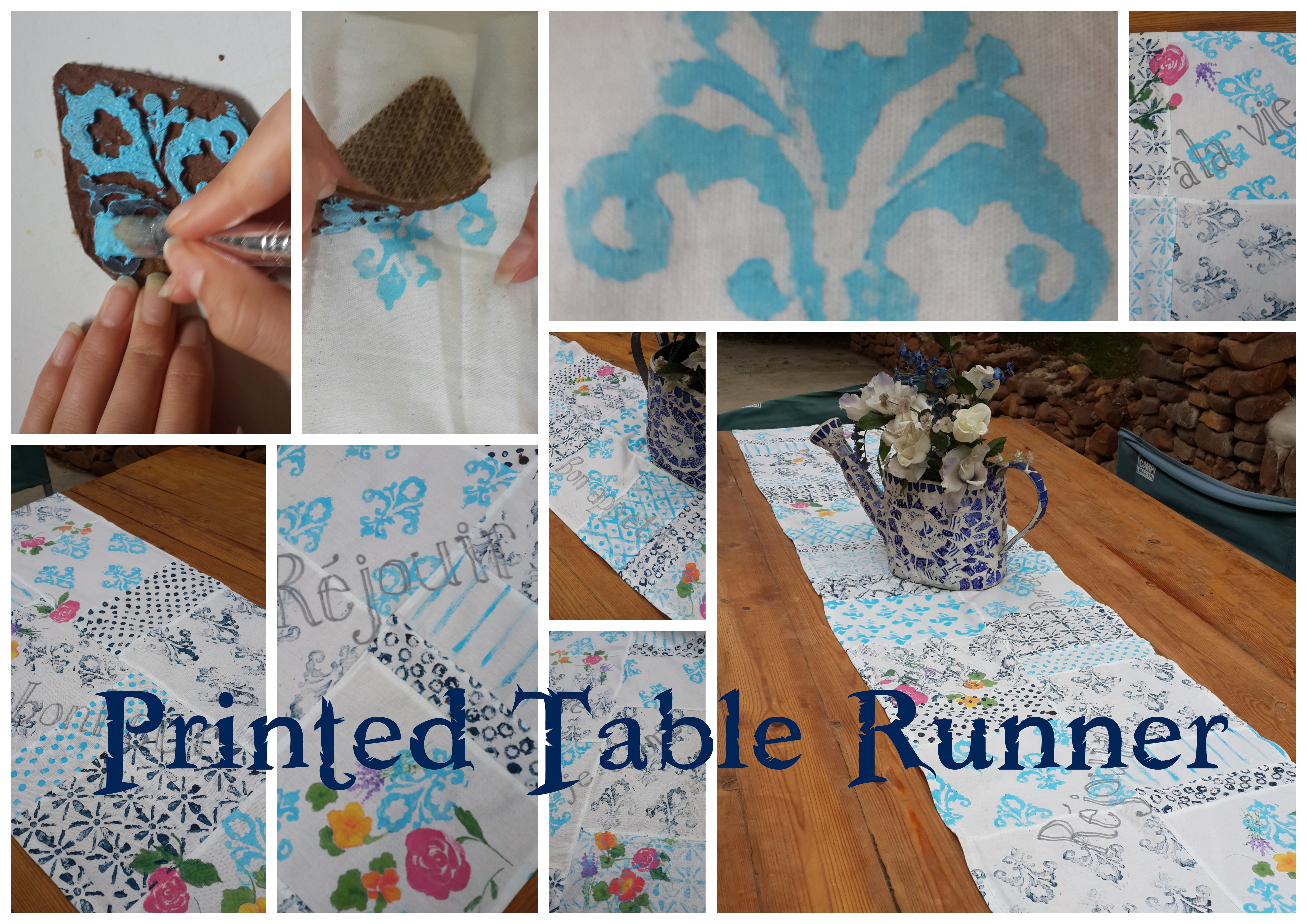 Printed Table Runner   Practical Pages