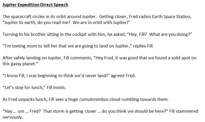Direct Speech example