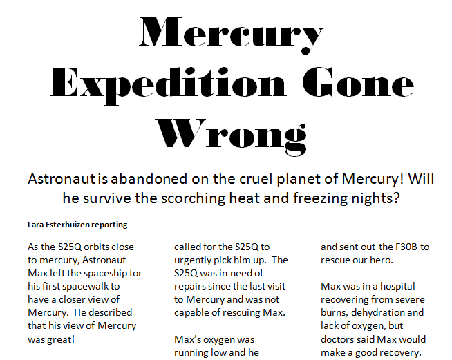 Mercury Expedition Reported Speech