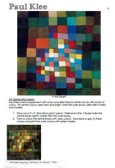 Paul Klee colour blocks art lesson