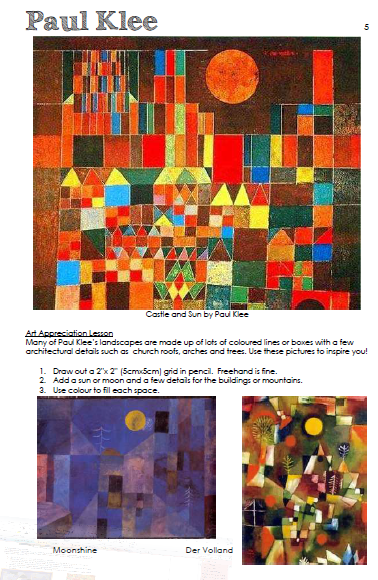 Paul Klee landscape grid lesson