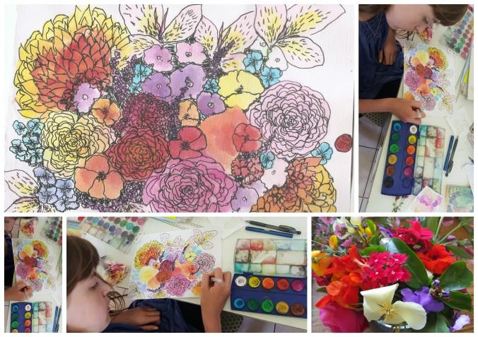Art Alisa Burke spring bouquets1
