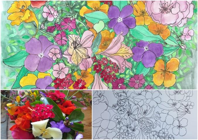 Art Alisa Burke spring bouquets2