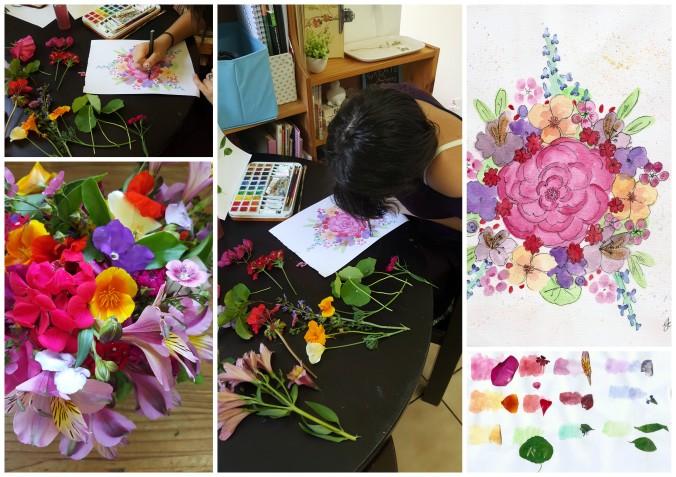 Art Alisa Burke spring bouquets