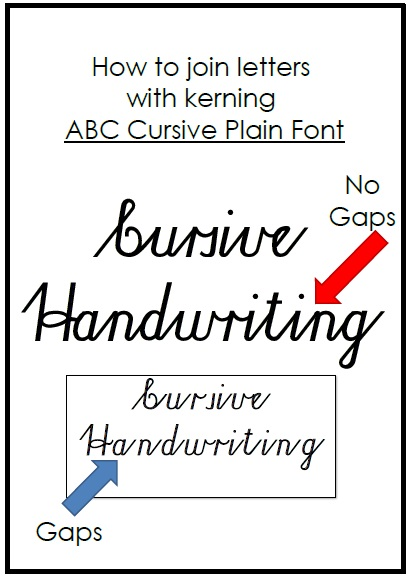 cursive font practical pages. Black Bedroom Furniture Sets. Home Design Ideas