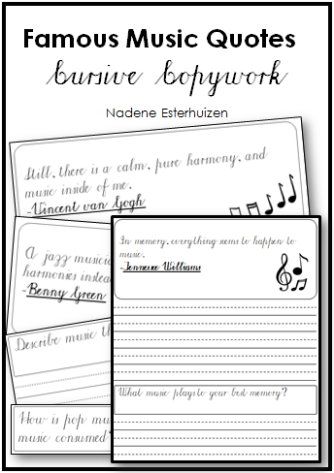 Music Quotes Cursive Cover